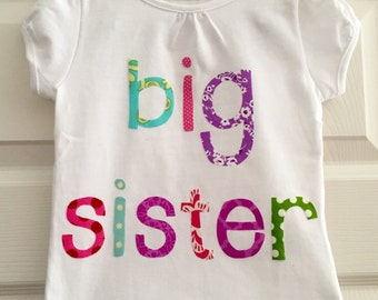 Big Sister Shirt - size 3 months to 12 years by Green Apple Boutique