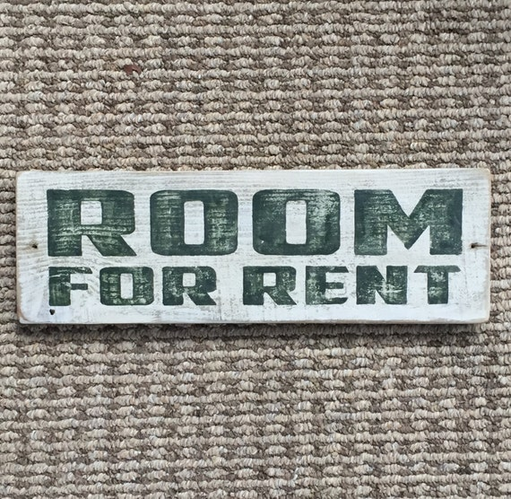 Where To Look For Rentals: Room For Rent Vintage-looking Pallet Wood Sign Hand Made