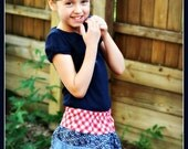 SALE Treasure Hunt Skirt - PDF Sewing Pattern Instant Download - Sizes 6 months to 14 tween - kids love the pockets