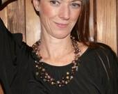 Multi-strand necklace, Beaded necklace, artisan necklace, Crystal necklace, Wire necklace, Artisan necklace, Handmade necklace