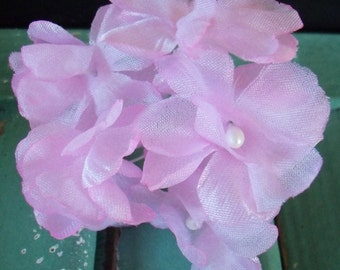 Vintage Millinery / Delicate Pink Blossoms / One Bouquet / DIY Corsage