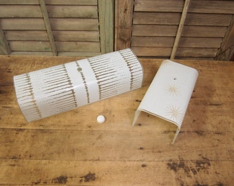 Free Shipping Mid century Bathroom light shade rectangular white glass Starburst and frosted