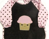 Happy Cupcake Sleeved Bib, Size 6 Months - 2T