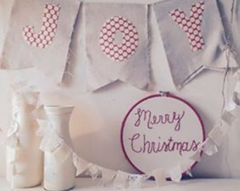 JOY banner : Christmas home decor. Scandinavian style Christmas banner. In stock + ready to ship