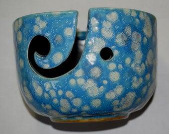 Blue spot Ceramic yarn Bowl