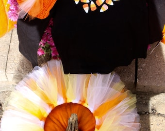 Candy Corn Sweet Tutu Halloween Costume size 2T