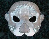 MADE TO ORDER Sea Otter Leather Mask... masquerade costume mardi gras halloween burning man
