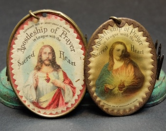 Vintage 2 Sacred Heart Religious Medals