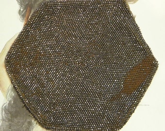 Antique Cut Steel Seed Beads Salvage