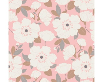 NEW from Camelot Fabrics, With Love Collection, Petals in blush Pink, yard