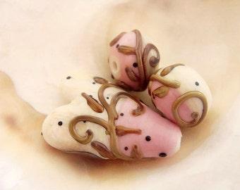 3 Handmade Lampwork Beads