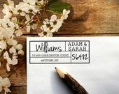 Custom Address Stamp, Mothers Day Gift,Personalized Return address Stamp,self inking,Block Stamp, Cursive,Wedding Adress Stamp, #16-82