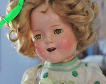 Shirley Temple Composition Doll 15 inches