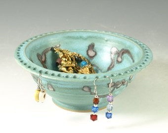Jewelry bowl & earring holders