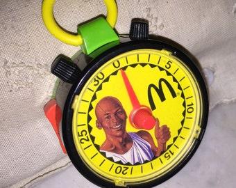 1991 McDonald's Michael Jordan Fitness Stop Watch Toy