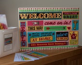 Welcome wall hanging cross stitch kit