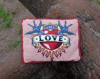 Love Tattoo Cross Stitch Kit