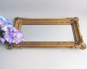 Vintage Wall Mirror Hanging Mirror Gold Framed Mirror Hollywood Regency Ornate Mirror