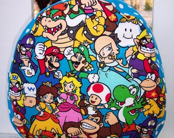 My Carrie Toddler/Teen Backpack/Purse made with Mario Bros. Fabric
