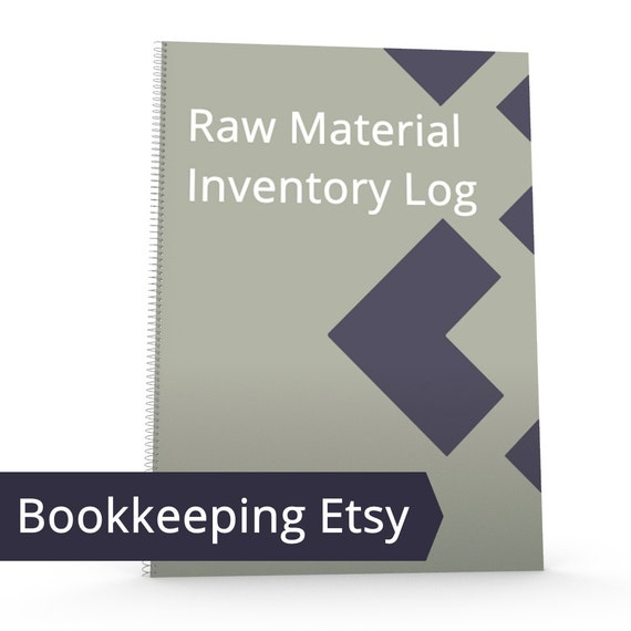 Etsy Raw Material Log - Inventory Management, Inventory Log, Finished Inventory, COGS, Tracking, Tracker, Sheet, Form Accounting Bookkeeping