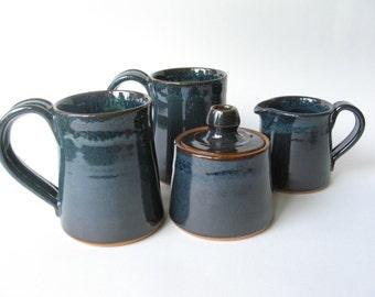 Coffee Mugs with Matching Cream and Sugar