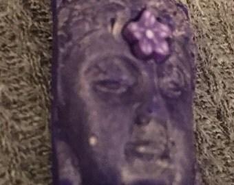 Handmade clay face  goddess buddha    woman doll head  jewelry craft supplies  cabochon  mosaics dolls jewelry craft  spirit