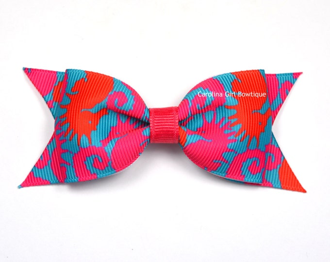 """Hold Your Horses Bow  ~ 3.5"""" Hairbow ~ Lilly Inspired ~ Small Hair Bow ~ Girls Barrette ~ Toddler Bow ~ Hair Clip ~ Girls Hair Bow"""
