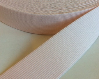Palest pink soft elastic, 1 1/2 inches wide