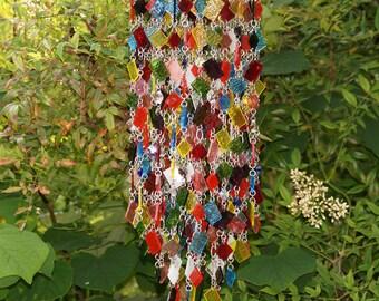 Stained Glass - Colored Glass - Unique Wind Chimes - Suncatcher - One Of A Kind - Kaleidoscope - Coriandoli aka Confetti