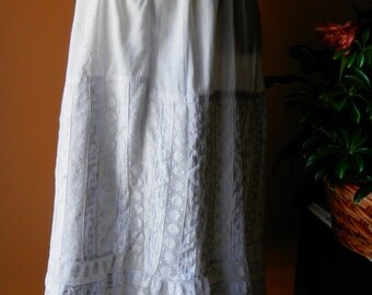 Antique 1800's Laced Victorian / Primitive Petticoat / Skirt