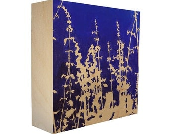 limited edition botanical print on birch wood panel. Black Bedroom Furniture Sets. Home Design Ideas