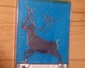 Reindeer Boxed Set of 6 Letterpress Printed Cards