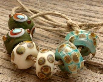 EARRING PAIRS - Handmade Lampwork Beads - Earring Pairs - 6 Beads