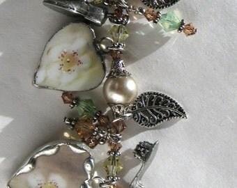 Broken China Bracelet - Handmade Bracelet - Vintage China Bracelet - Pickard China Broken China Bracelet - Broken China Jewelry