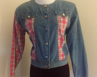 Jacket Vintage 1980s Pretty In Pink Jean Jacket