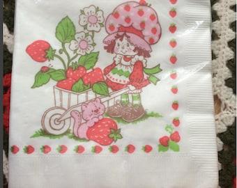 80s Strawberry Shortcake Napkins
