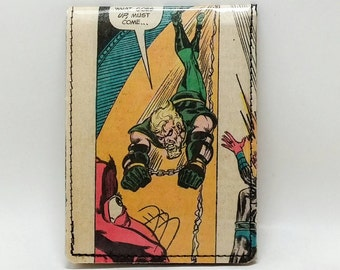 Sewn Comic Book Wallet - Justice League - Vintage Green Arrow and Green Lantern
