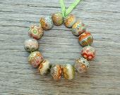 Mumbai sampler - Lampwork beads by Loupiac