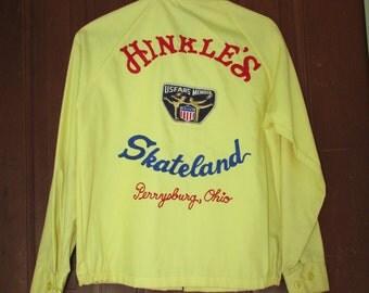 50s Rockabilly Skate Jacket Vintage 1950s Women Rockabilly Roller Skate Skateland Perrysburg OH Embroidery Patch M