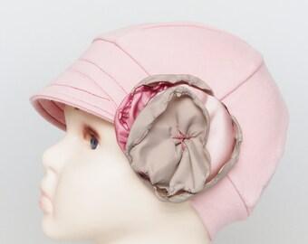 hemo hats for hair loss, cancer headwear, trichotillomania, children accessories, lupus headwear, soft alopecia hats, kids pink chemo cap
