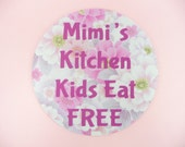 JAR OPENER Mimi's Kitchen Kids Eat Free Customized Round Black Rubber Backing Gripping Loosens Bottle Containers