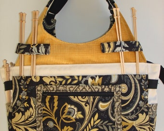 Large Knitting/Crochet Project Tote Bag-FLORENTINE