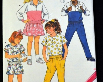 ON SALE Vintage Sewing Pattern Butterick 4668 Toddlers' Top Skirt Shorts and Pants Size 1-2-3 UNCUT Complete