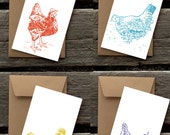 Hen House Assortment of 8 Flat Panel Cards and Envelopes