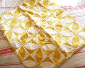 Rag Bag Girls Unite...Small Vintage Yellow & White Applique Quilt Top