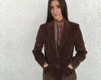 70s Brown Corduroy Blazer
