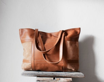 SALE Leather Tote Bag in Caramel / Leather Tote / Shoulder Bag / Brown Leather Bag / Leather Bag /  Leather Shopper / Leather Handbag/
