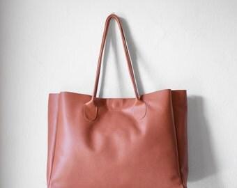 Leather Shopper in Terracotta / Leather Handbag / Leather Tote / Shoulder Bag / Brown Leather Bag / Leather Bag / Women's Handbag /