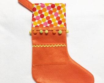 Felt Holiday Stocking - Pocket Peeper - Merry Marmalade