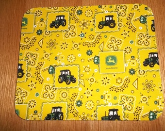 Mouse Pad, John Deere, Yellow, Mouse Pads, Desk Accessories, Office Decor, Handmade, Gift MousePad, Rectangle, Mouse Mat, Computer Mouse Pad